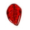 Glass Bead Leaves 3X14mm Siam Ruby - Strung